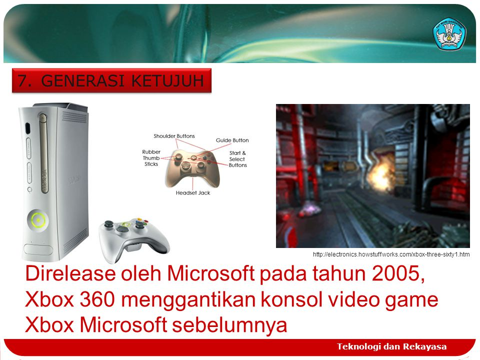GENERASI KETUJUH http://electronics.howstuffworks.com/xbox-three-sixty1.htm.