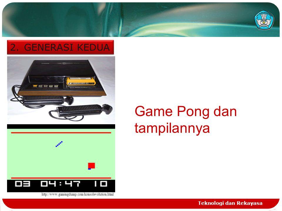 Game Pong dan tampilannya
