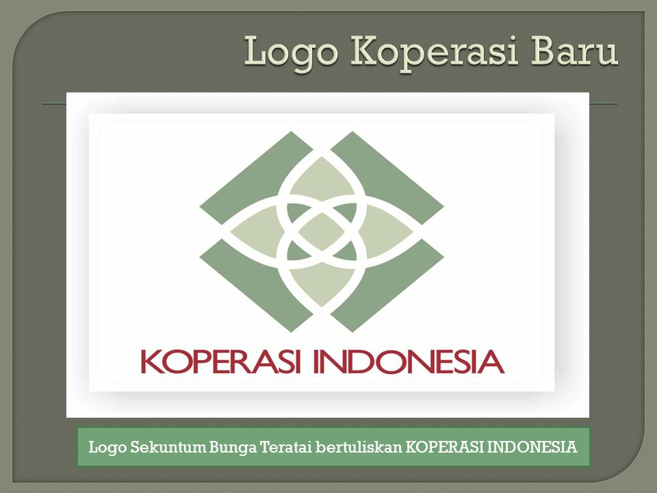 Logo Sekuntum Bunga Teratai bertuliskan KOPERASI INDONESIA