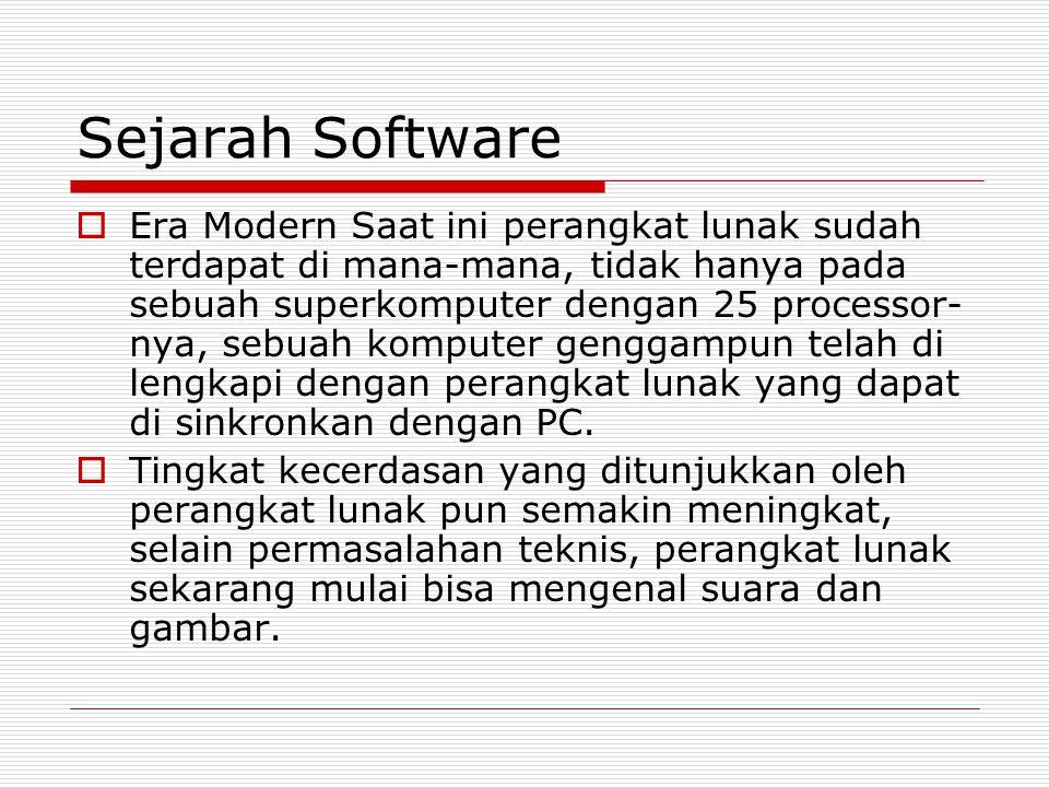 Sejarah Software