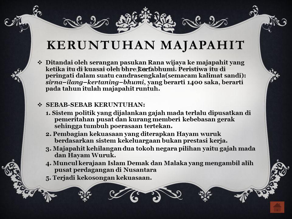 KERUNTUHAN MAJAPAHIT