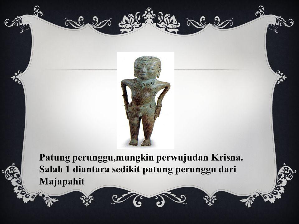 Patung perunggu,mungkin perwujudan Krisna