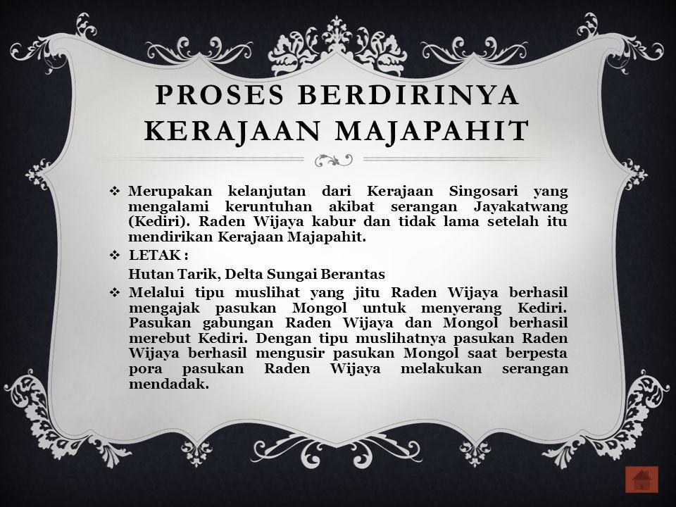 PROSES BERDIRINYA KERAJAAN MAJAPAHIT
