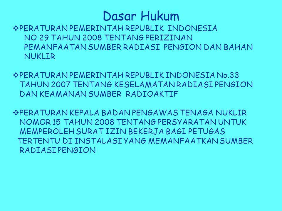 Dasar Hukum PERATURAN PEMERINTAH REPUBLIK INDONESIA