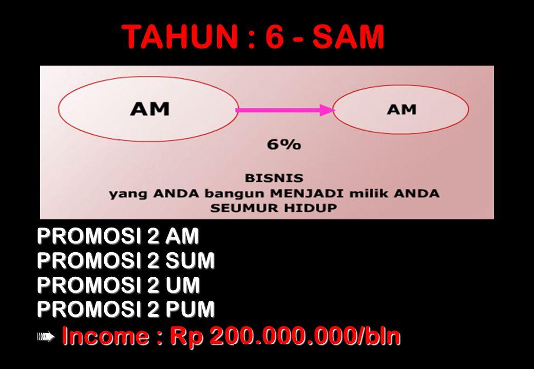 TAHUN : 6 - SAM PROMOSI 2 AM PROMOSI 2 SUM PROMOSI 2 UM PROMOSI 2 PUM
