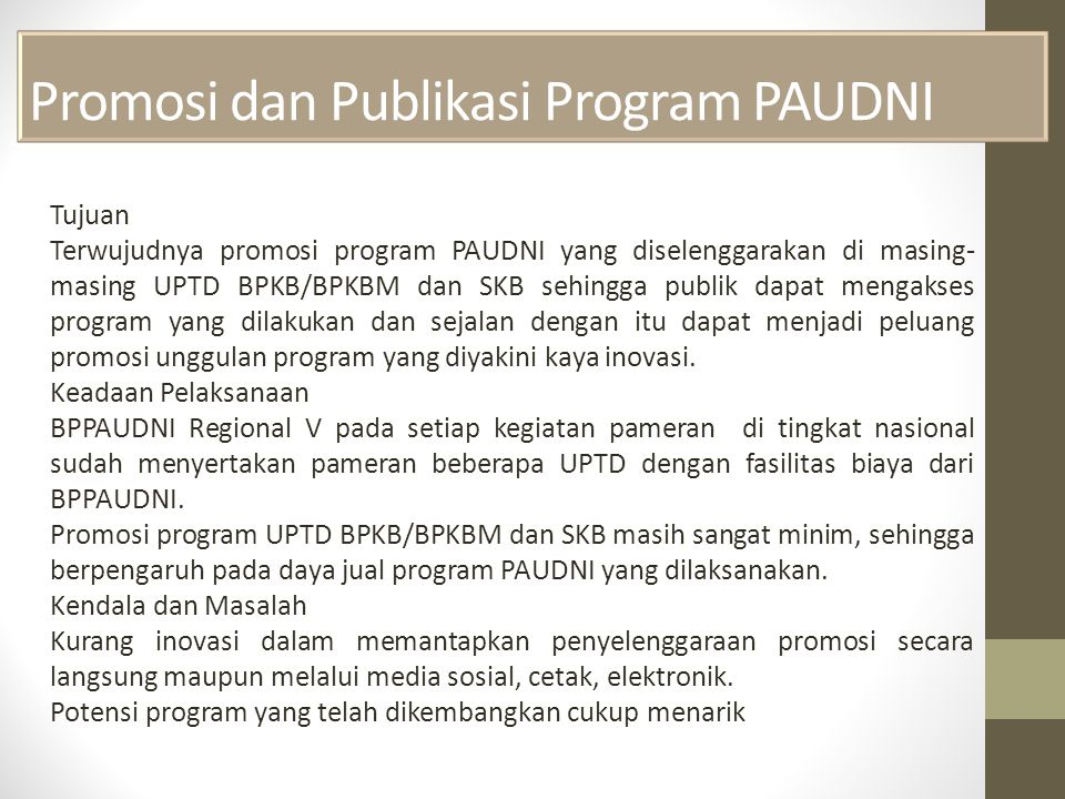 Promosi dan Publikasi Program PAUDNI