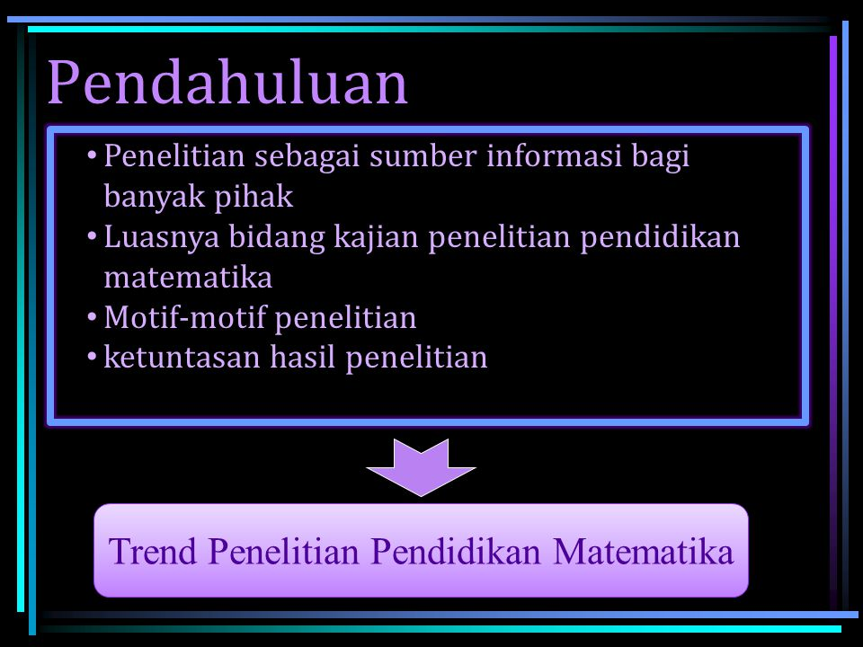 Trend Penelitian Pendidikan Matematika