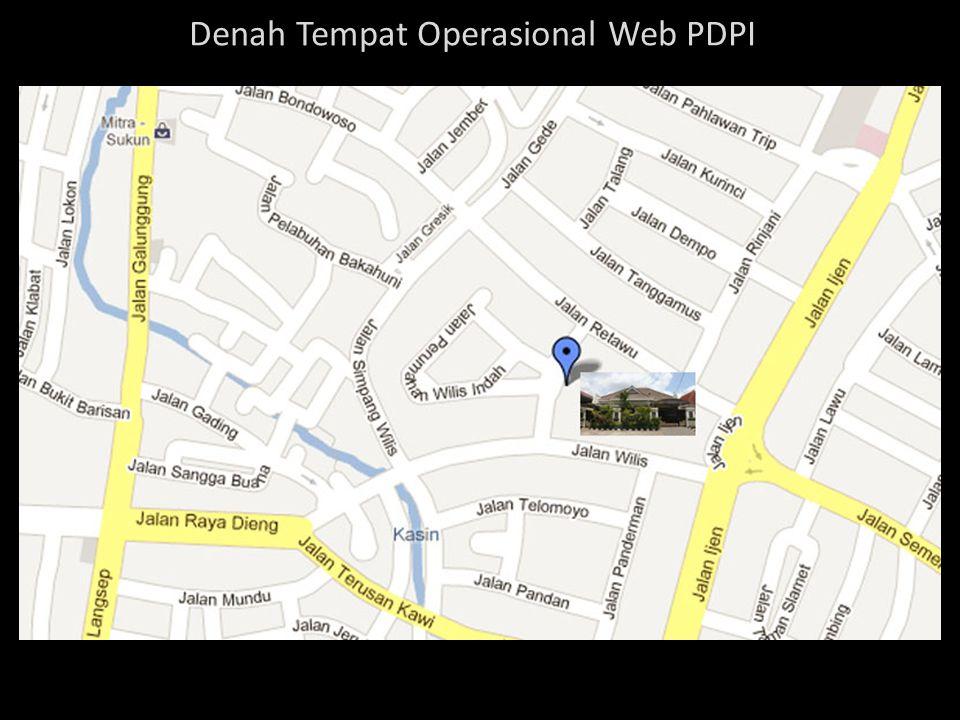 Denah Tempat Operasional Web PDPI