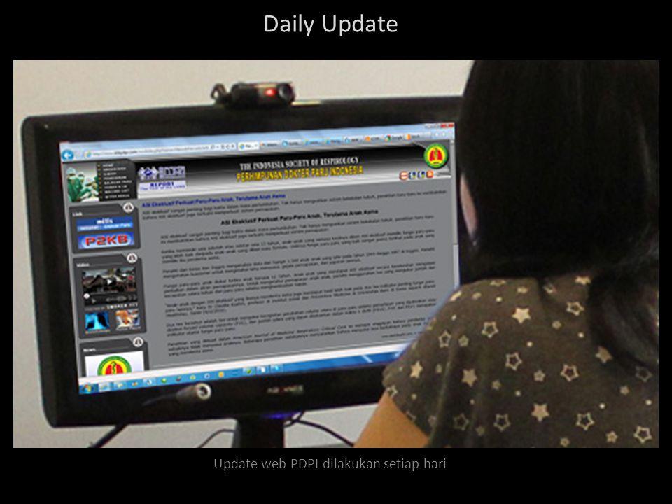 Update web PDPI dilakukan setiap hari