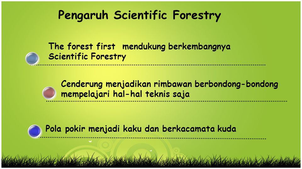 Pengaruh Scientific Forestry