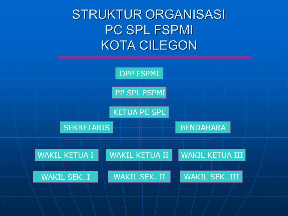 STRUKTUR ORGANISASI PC SPL FSPMI KOTA CILEGON
