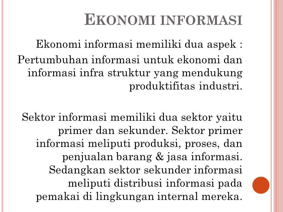 Ekonomi informasi