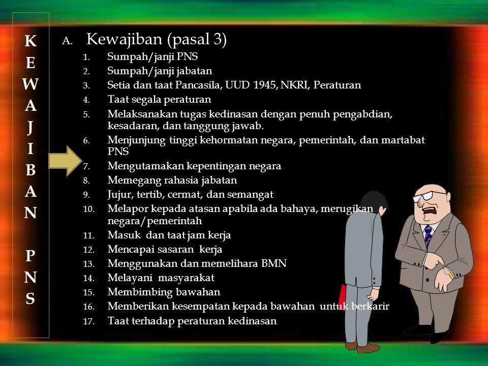 K Kewajiban (pasal 3) E W A J I B N P S Sumpah/janji PNS