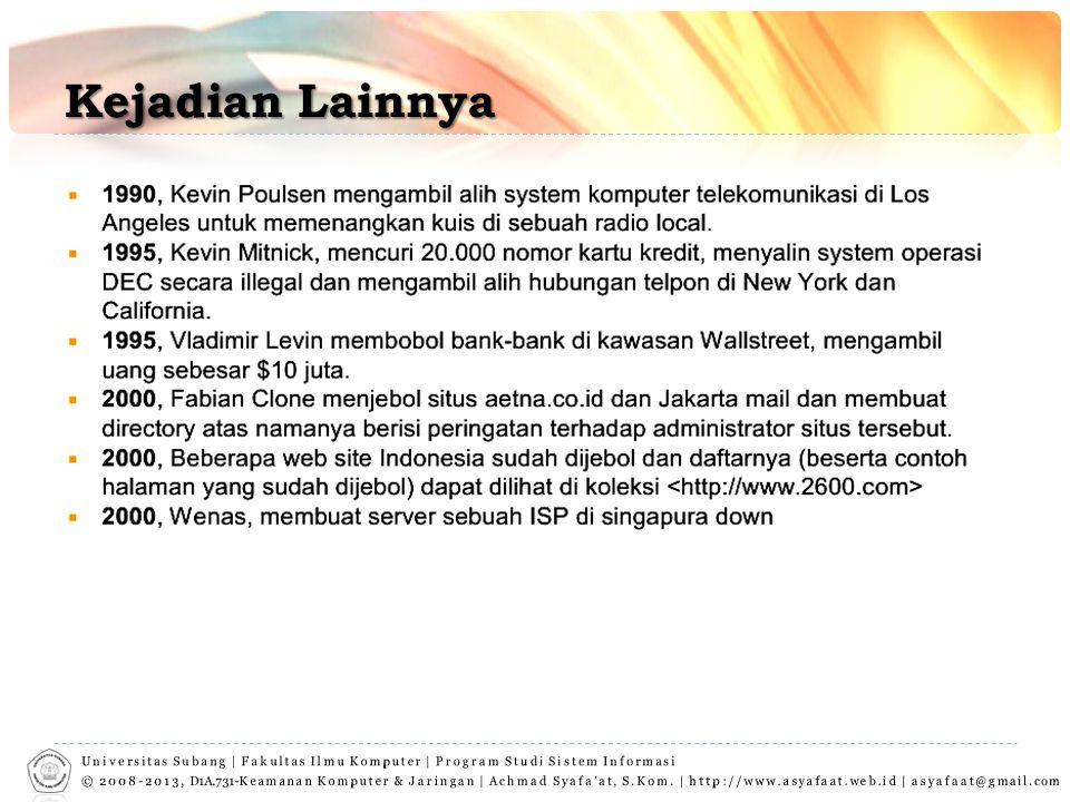 Kejadian Lainnya Universitas Subang | Fakultas Ilmu Komputer | Program Studi Sistem Informasi.