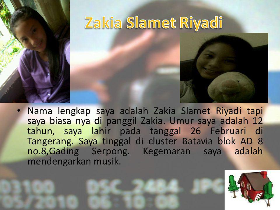 Zakia Slamet Riyadi