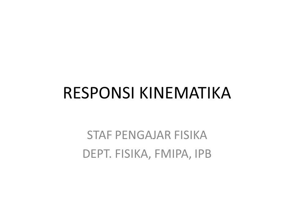 STAF PENGAJAR FISIKA DEPT. FISIKA, FMIPA, IPB
