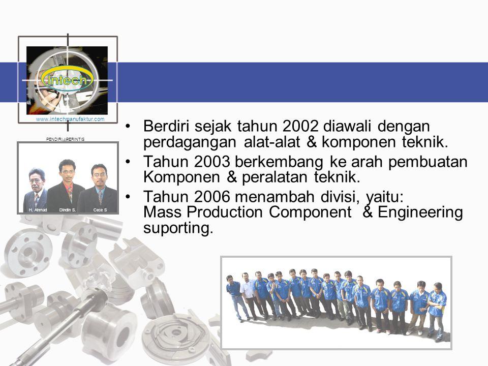 Tahun 2003 berkembang ke arah pembuatan Komponen & peralatan teknik.