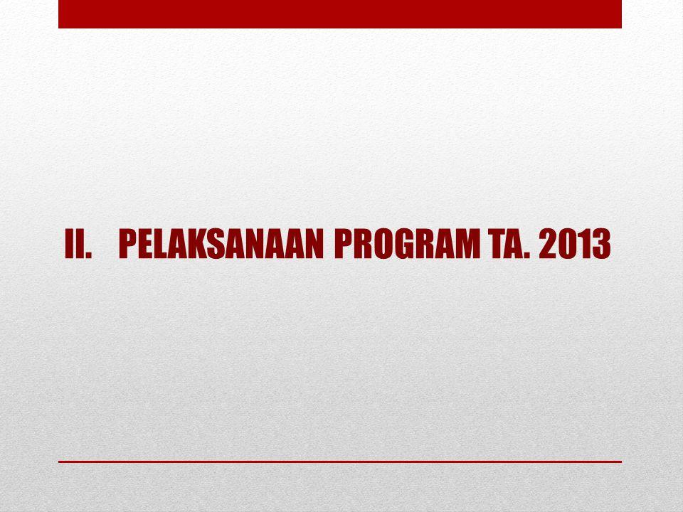 PELAKSANAAN PROGRAM TA. 2013