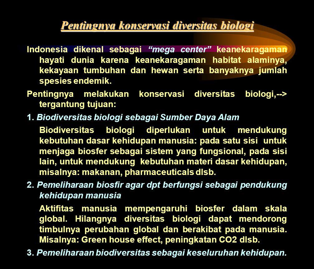 Pentingnya konservasi diversitas biologi