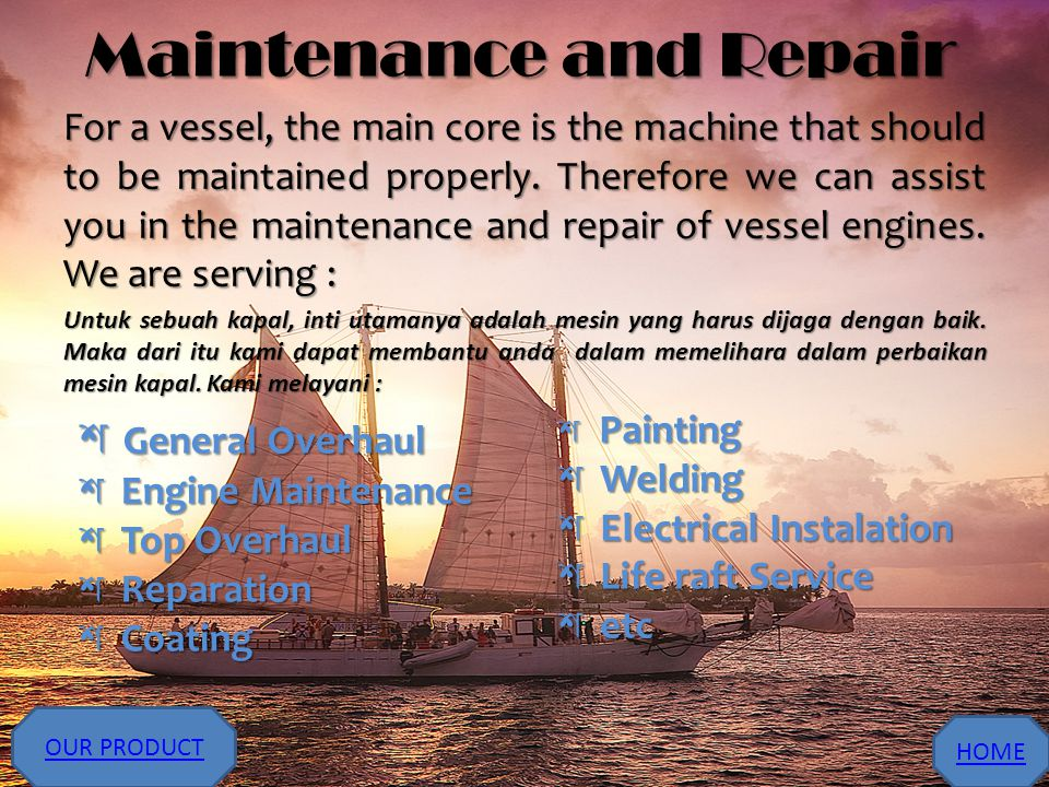 Maintenance and Repair