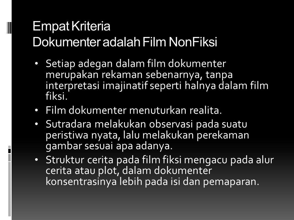 Empat Kriteria Dokumenter adalah Film NonFiksi