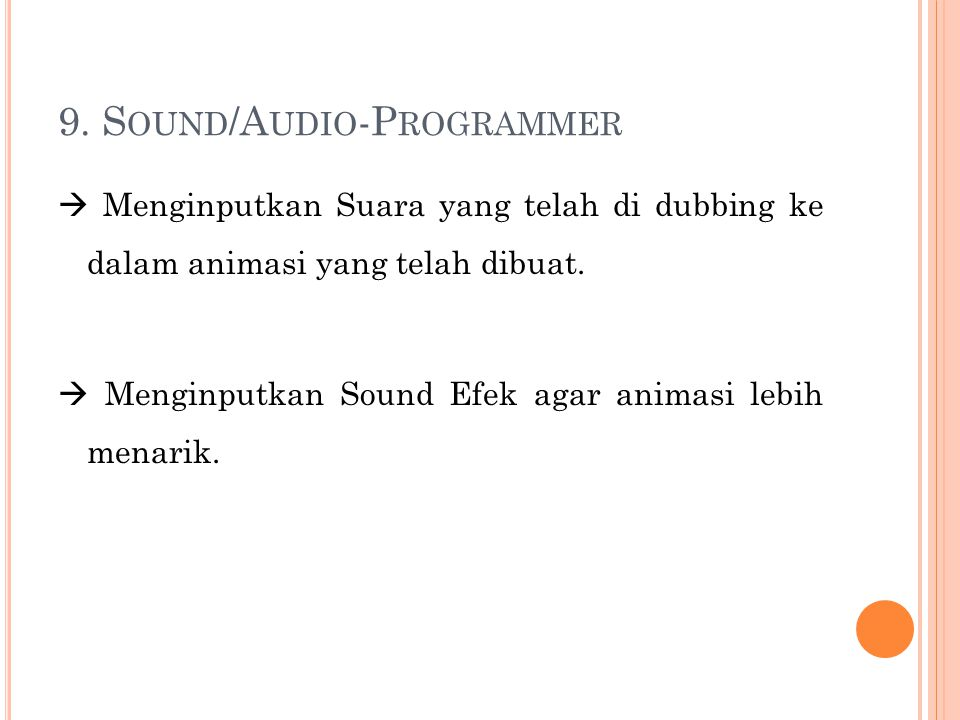 9. Sound/Audio-Programmer