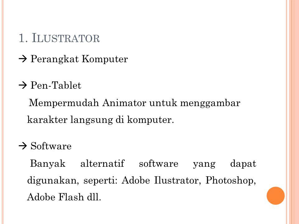 1. Ilustrator  Perangkat Komputer  Pen-Tablet