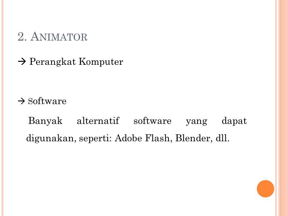 2. Animator  Perangkat Komputer