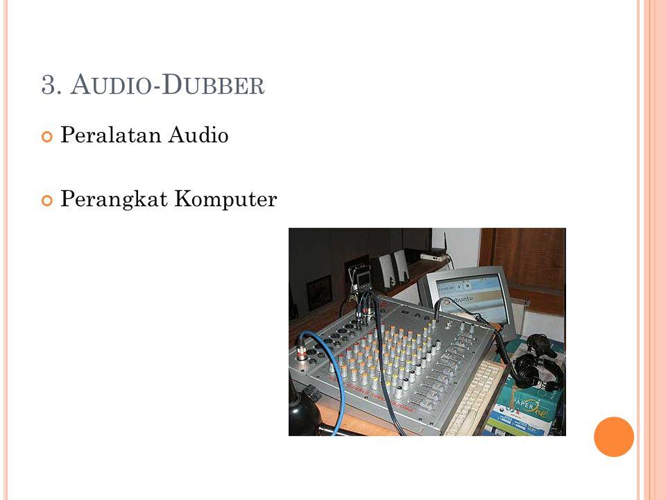 3. Audio-Dubber Peralatan Audio Perangkat Komputer