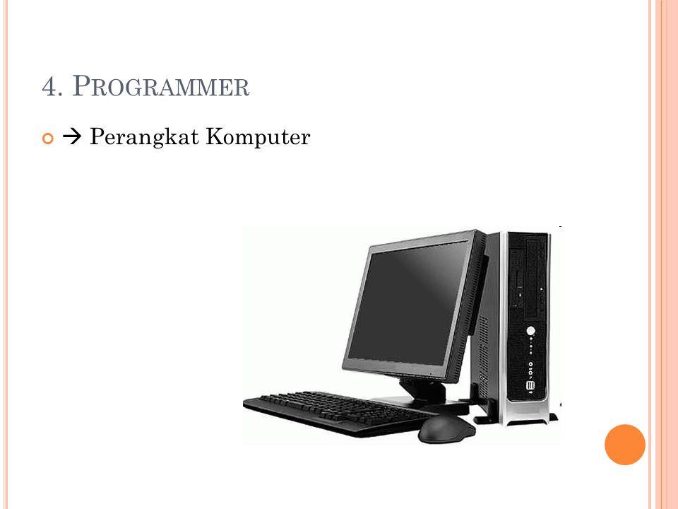 4. Programmer  Perangkat Komputer