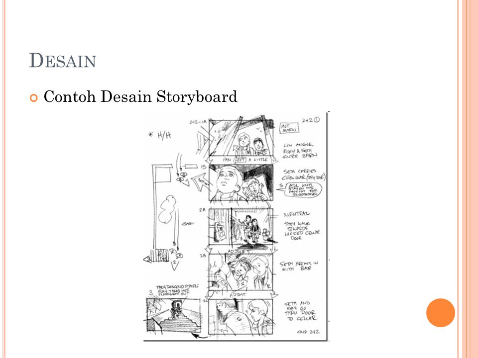 Desain Contoh Desain Storyboard