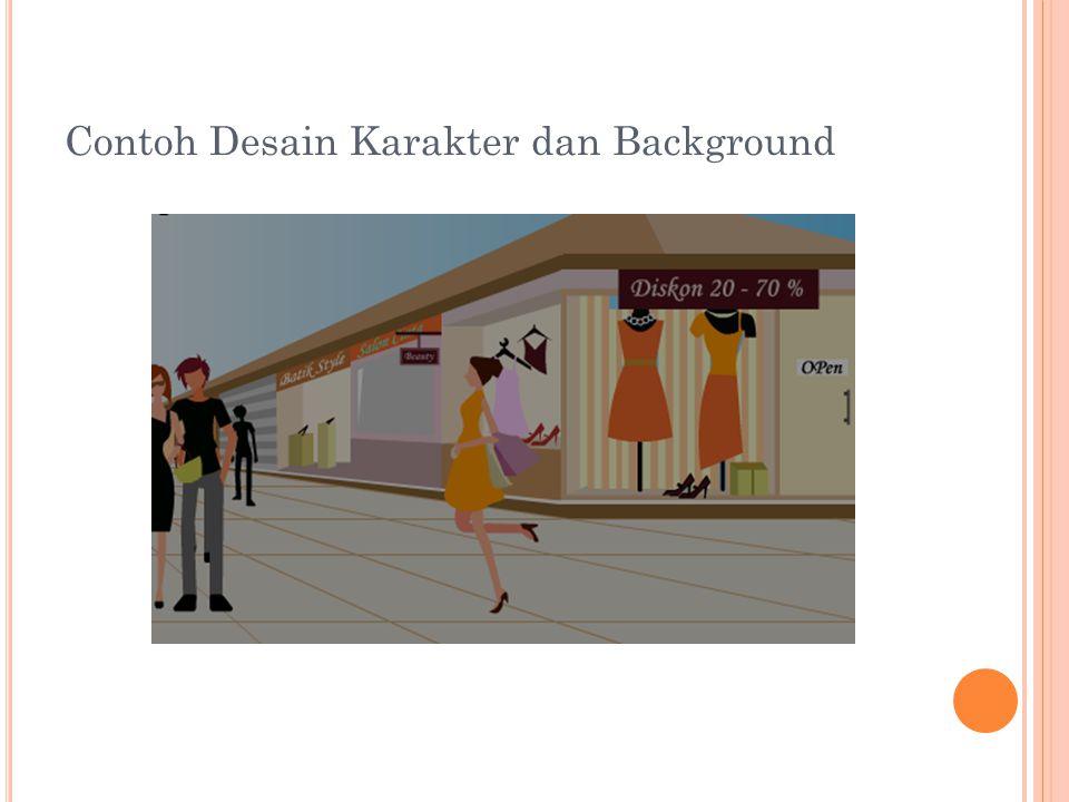 Contoh Desain Karakter dan Background