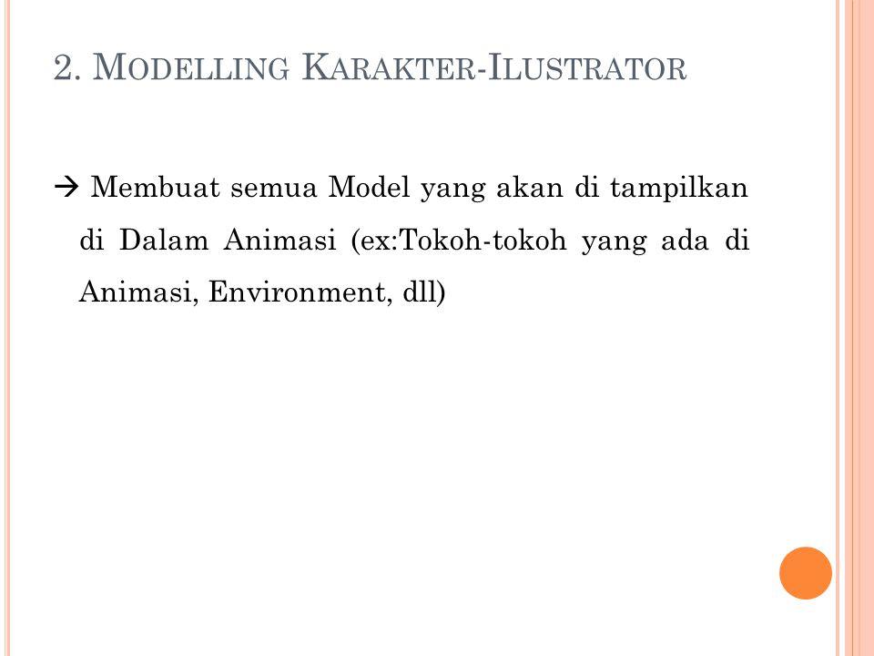 2. Modelling Karakter-Ilustrator