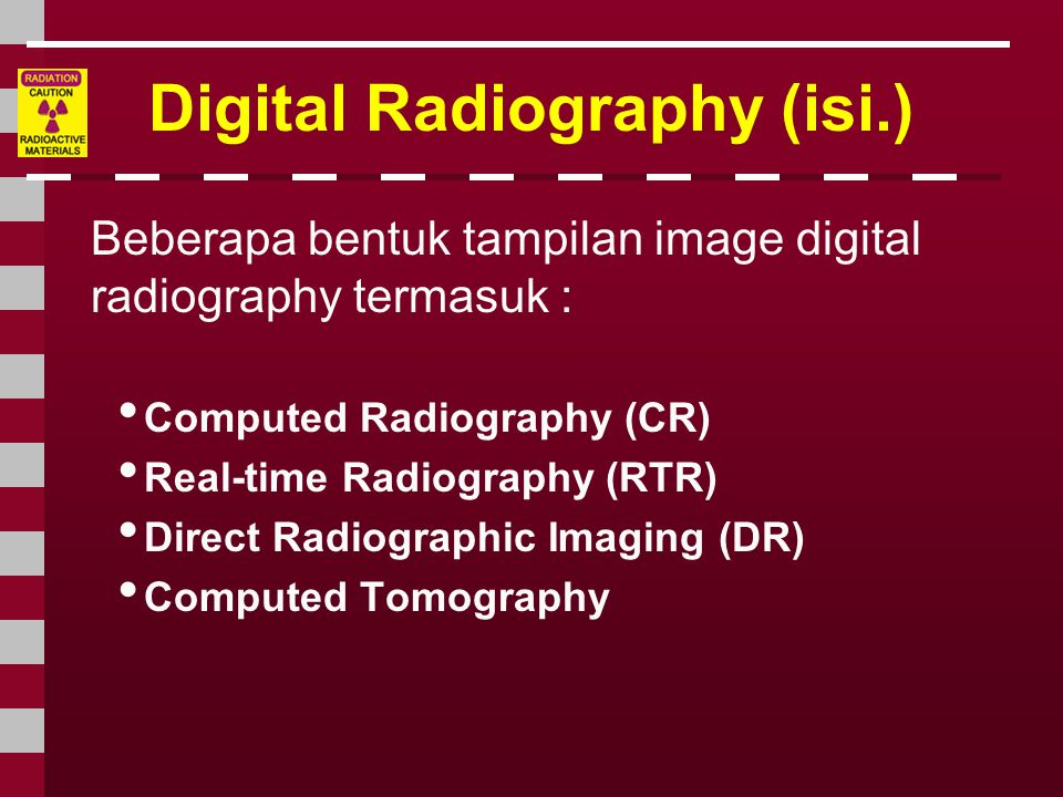 Digital Radiography (isi.)