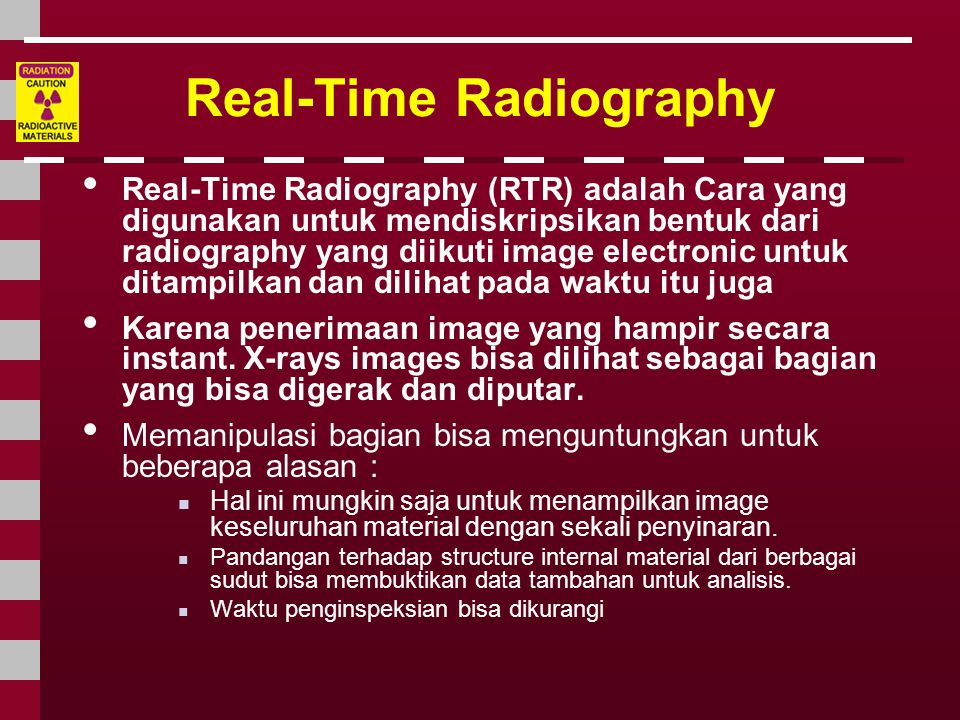 Real-Time Radiography