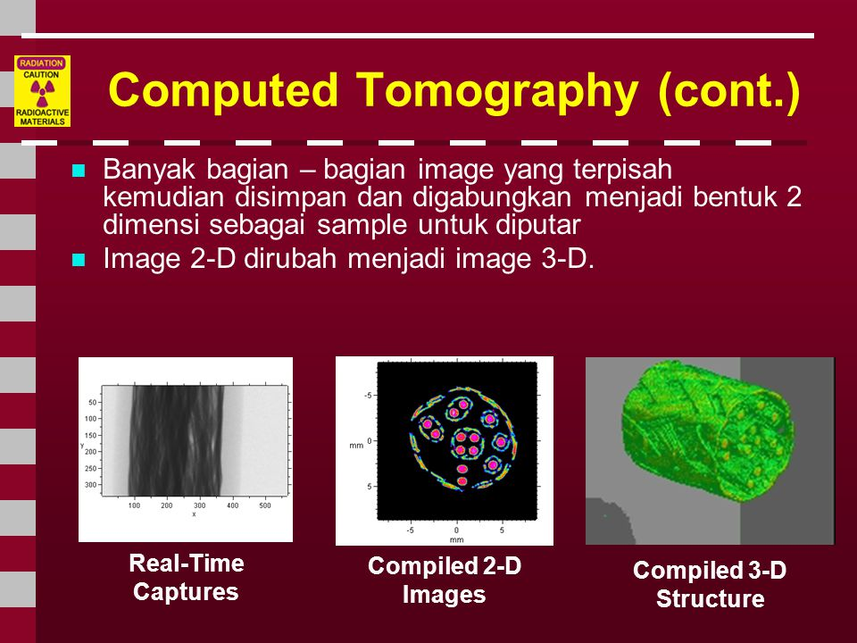 Computed Tomography (cont.)