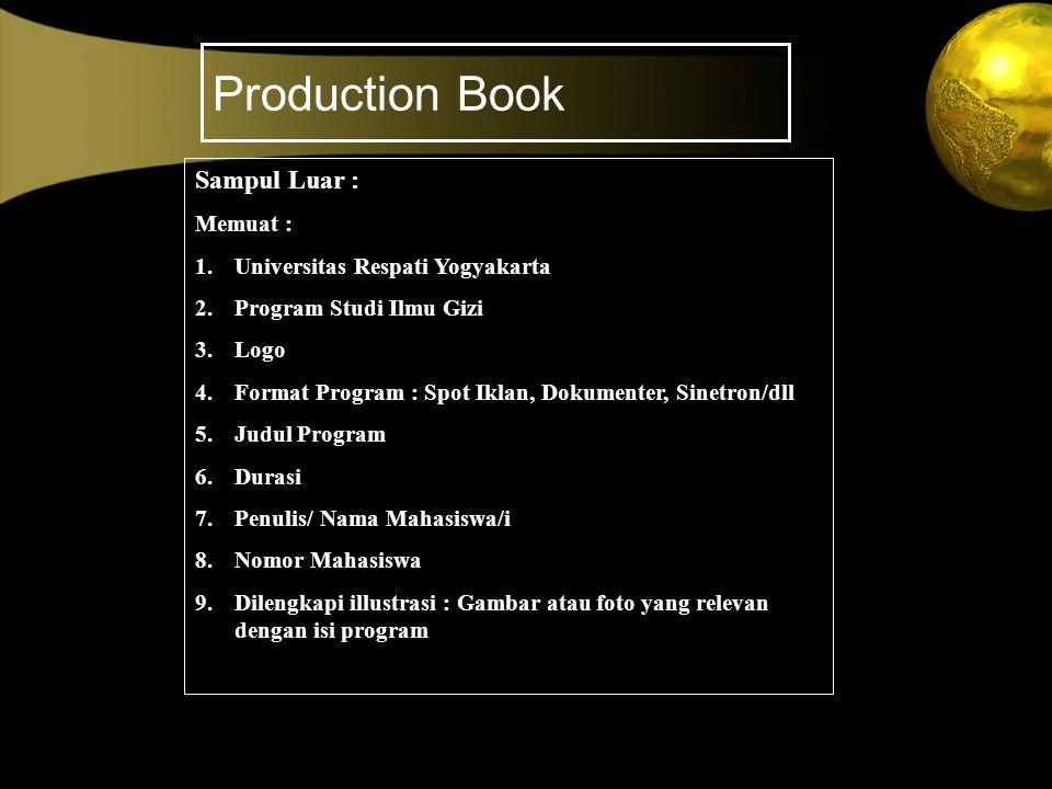 Production Book Sampul Luar : Memuat : Universitas Respati Yogyakarta