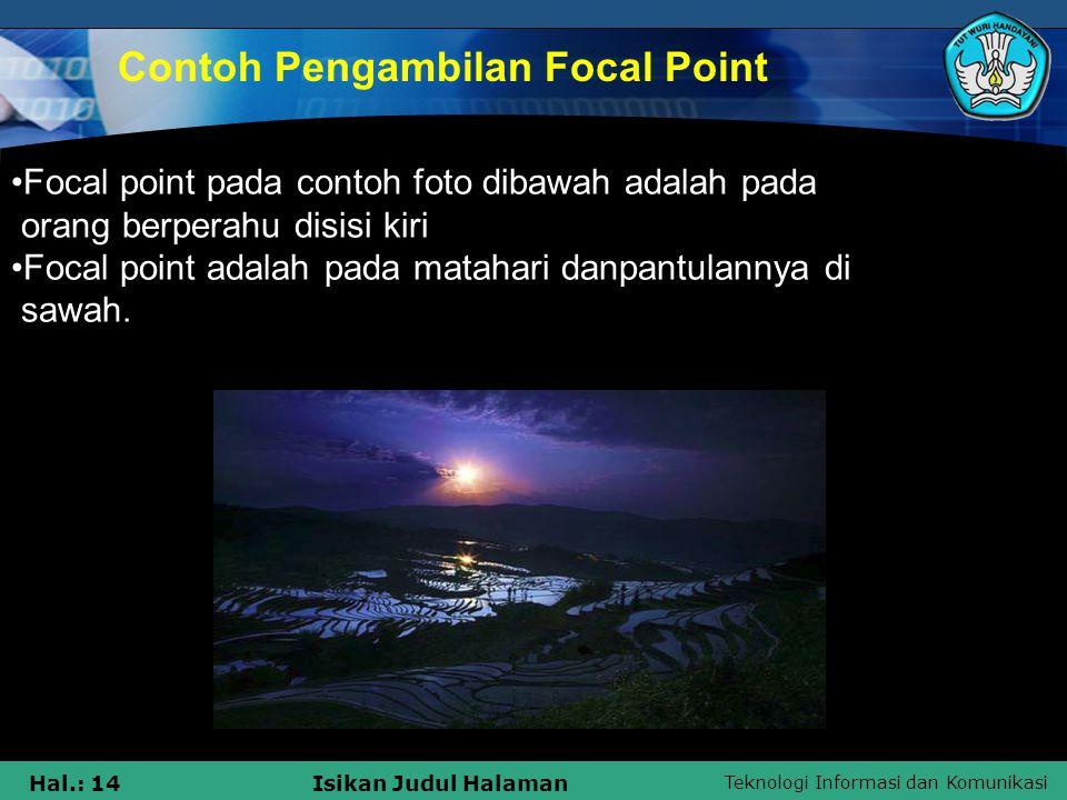 Contoh Pengambilan Focal Point
