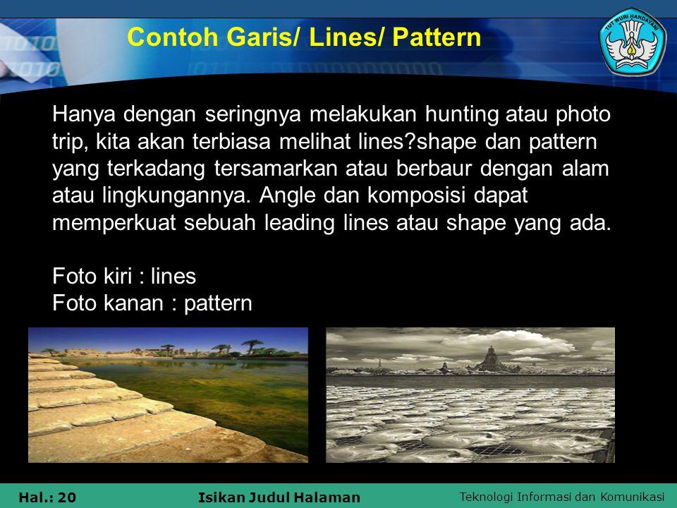 Contoh Garis/ Lines/ Pattern