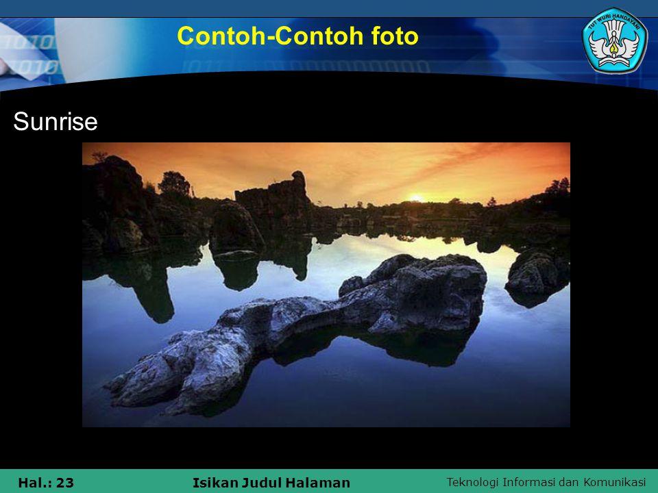 Contoh-Contoh foto Sunrise