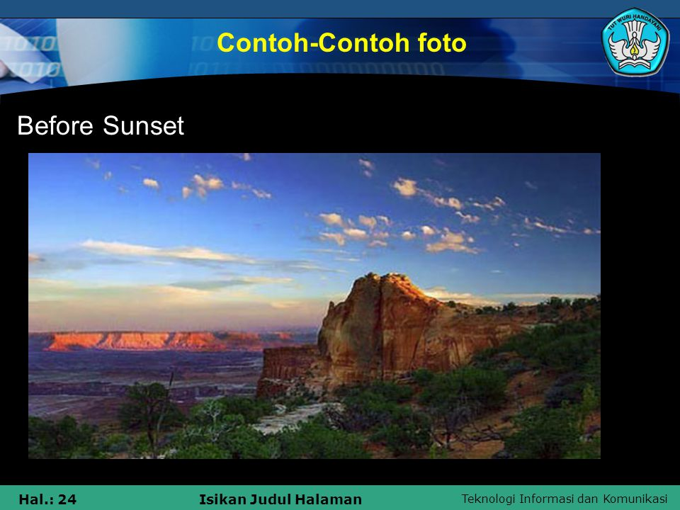 Contoh-Contoh foto Before Sunset
