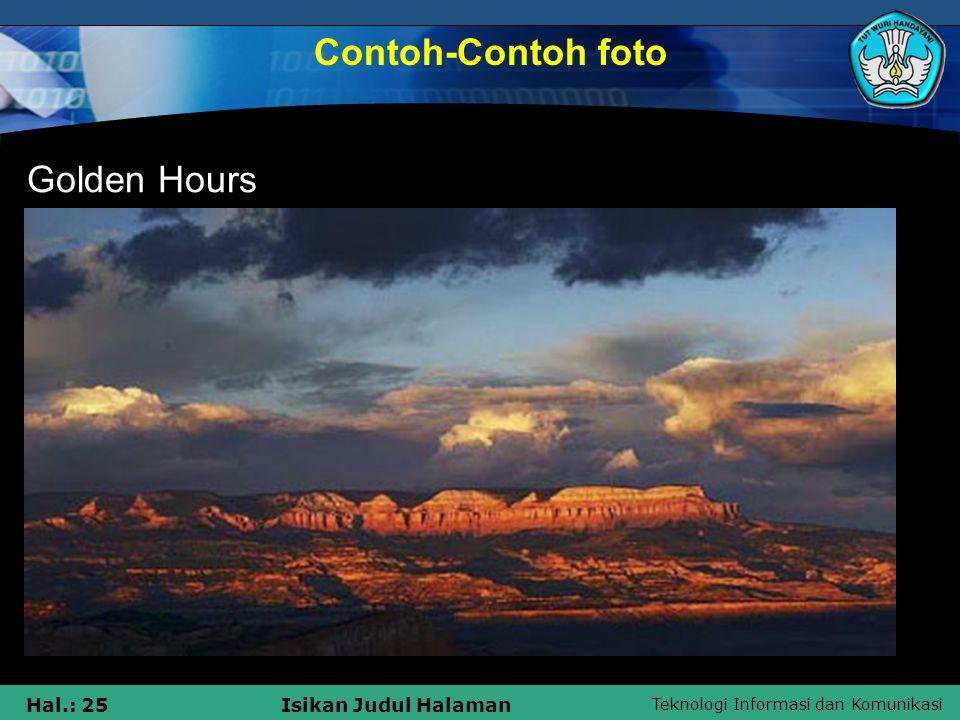Contoh-Contoh foto Golden Hours