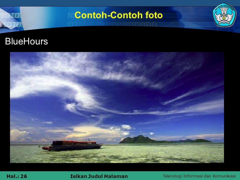 Contoh-Contoh foto BlueHours