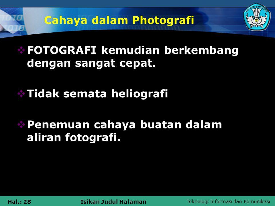 Cahaya dalam Photografi