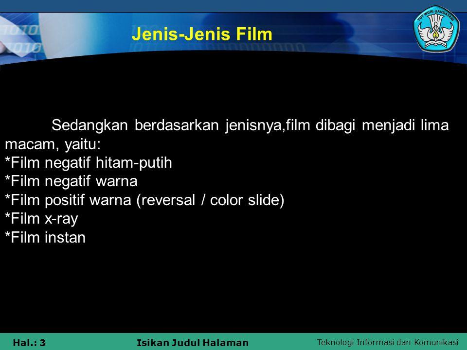 Jenis-Jenis Film