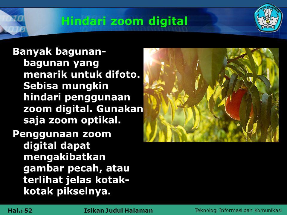Hindari zoom digital