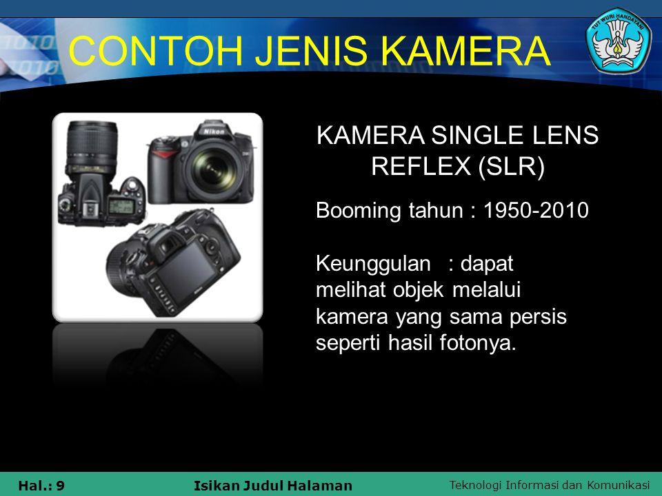 KAMERA SINGLE LENS REFLEX (SLR)