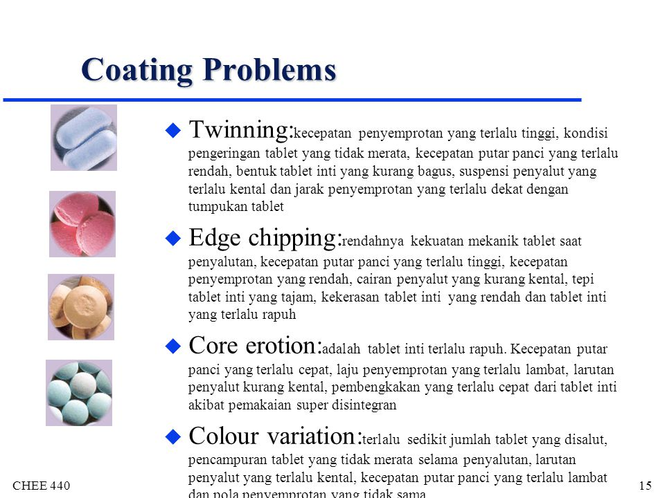 Coating Problems