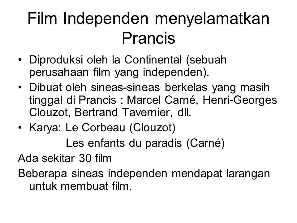 Film Independen menyelamatkan Prancis