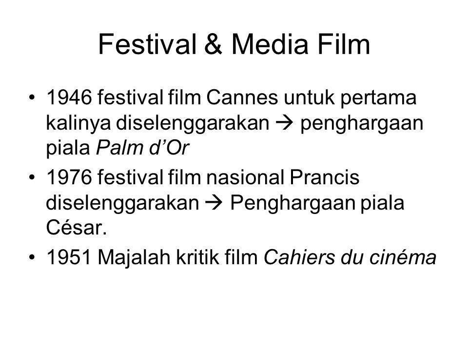 Festival & Media Film 1946 festival film Cannes untuk pertama kalinya diselenggarakan  penghargaan piala Palm d'Or.